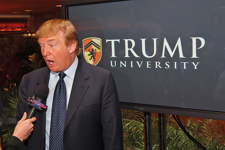 Trump University. Fonte: timeshighereducation.com - ©ZUMA Press, Inc.