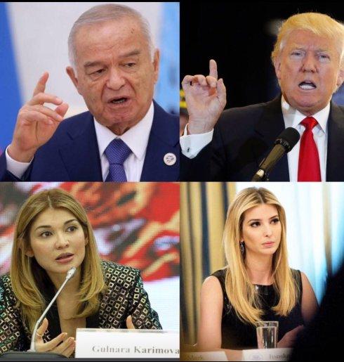 Padri e figlie: Karimov e la figlia Gulnara, Trump e la figlia Ivanka. Fonte: ©kazakia.com