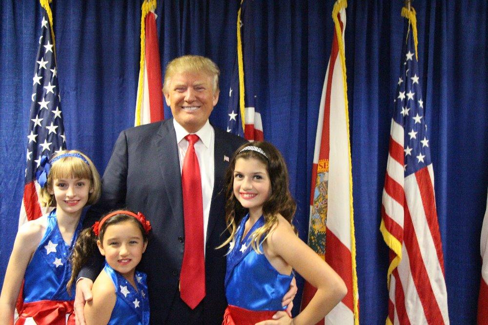 Donald J. Trump durante la campagna elettorale