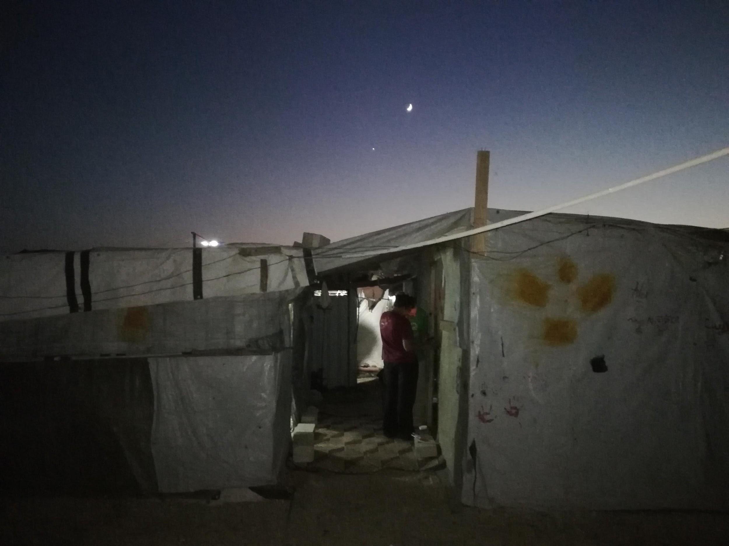 La tenda dove vivono i volontari di Operazione Colomba Ph. © Simona Degiorgi (Libano, agosto 2018)