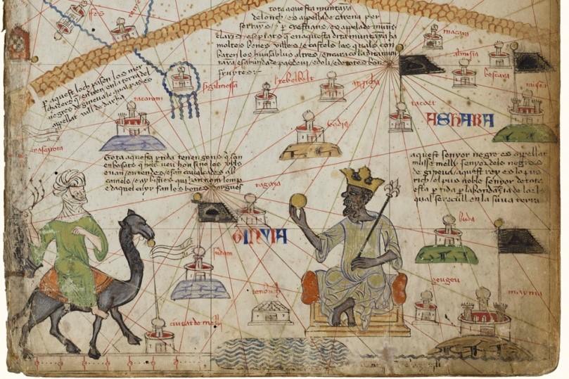 Rappresentazione di Musa I in un particolare dell' Atlante catalano