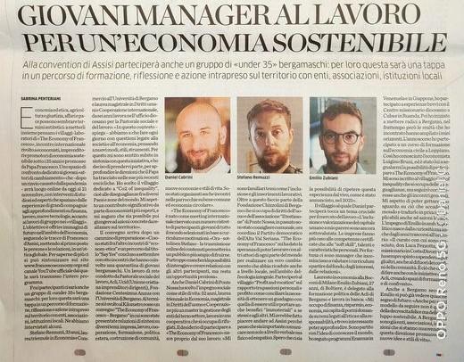 Da: Eco di Bergamo